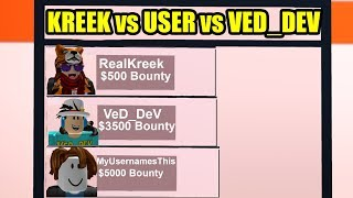 ULTIMATE HIGHEST BOUNTY CHALLENGE with KREEKCRAFT and VED_DEV | Roblox Jailbreak