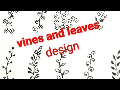 4152027ec Class-26 Basic steps of mehndi designs draw vines and leaves for beginners  tutorial