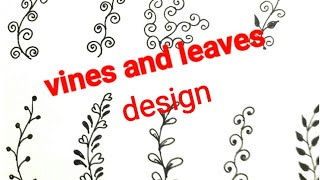 Class-26 Basic steps of mehndi designs draw vines and leaves for beginners tutorial