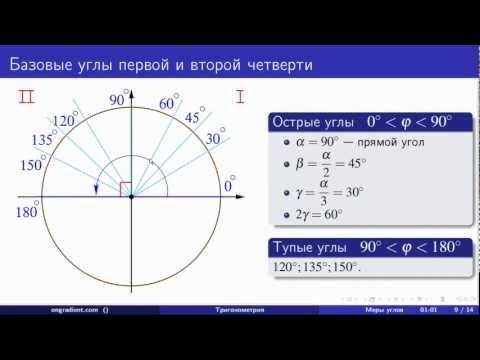 Градусная мера угла. Тригонометрия (01 - 01)