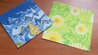 Как Сделать Бумагу Для Поделок Оригами Своими Руками. How To Make Paper Origami(Подробно показываю и рассказываю, как сделать красивую бумагу для оригами при помощи салфетки. Из такой..., 2015-04-15T21:44:25.000Z)