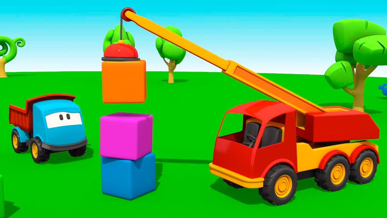 dessins anim s avec l o le camion curieux la grue de construction youtube. Black Bedroom Furniture Sets. Home Design Ideas