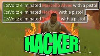 ENCONTREI UM HACKER NO MEIO DA PARTIDA:Fortnite:Battle Royale