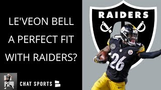 Raiders Rumors | Le'Veon Bell Perfect Fit, 2019 Draft News, Derek Carr Record & Devin Funchess 2019