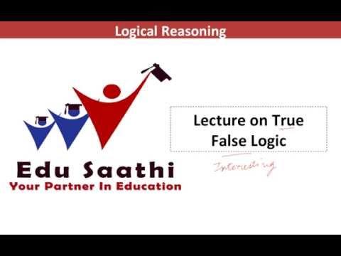 Logical Reasoning: True False Logic   www.edusaathi.com