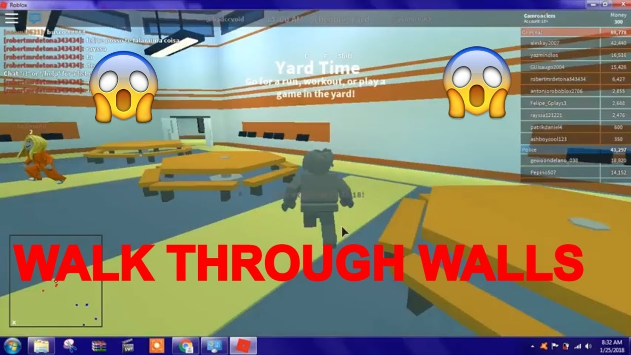 How To Get No Clip On Roblox Hack Walk Through Walls Working 2018