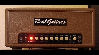Dumble Style Amplifier - Real Guitars RG 80 Head with Real Guitars 59 Burst