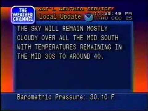 TWC Local Forecast Christmas 1997