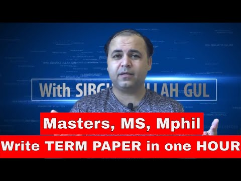 How To Write A Term Paper In 1 Hour (100% Plagiarism Free), The Term Paper Tips & Tricks