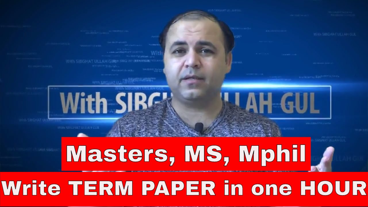 term paper plagiarism The first step to avoid plagiarism is to give it a clear definition, as the paper explains, plagiarism could be intentional or unintentional a writer can fall in plagiarism when he or she adopts other's ideas, statements or knowledge and state them as if they were their own.