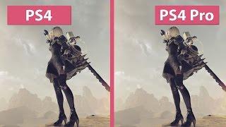 4K UHD | NieR: Automata – PS4 vs. PS4 Pro 4K Mode Graphics Comparison