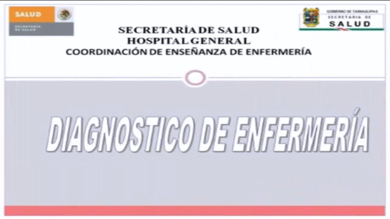 DIAGNOSTICOS DE ENFERMERIA NANDA - YouTube