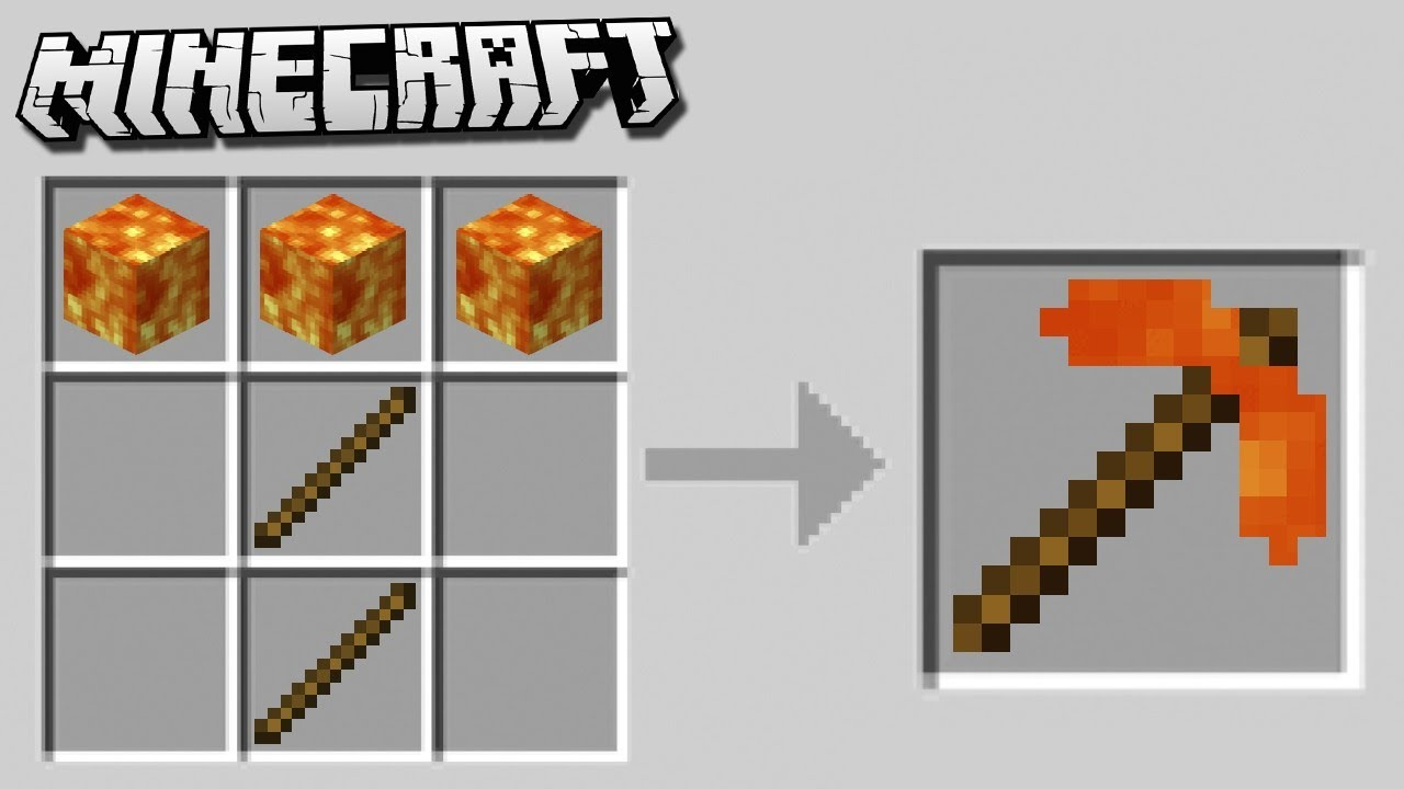 how to make pickaxe in minecraft pc