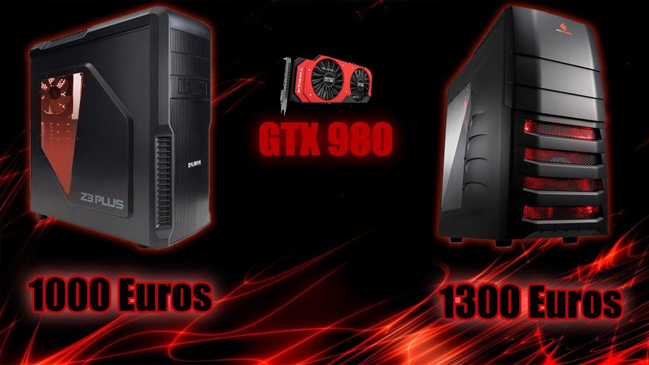 presupuesto pc gamer gtx 980 por 1000 y 1300 euros. Black Bedroom Furniture Sets. Home Design Ideas