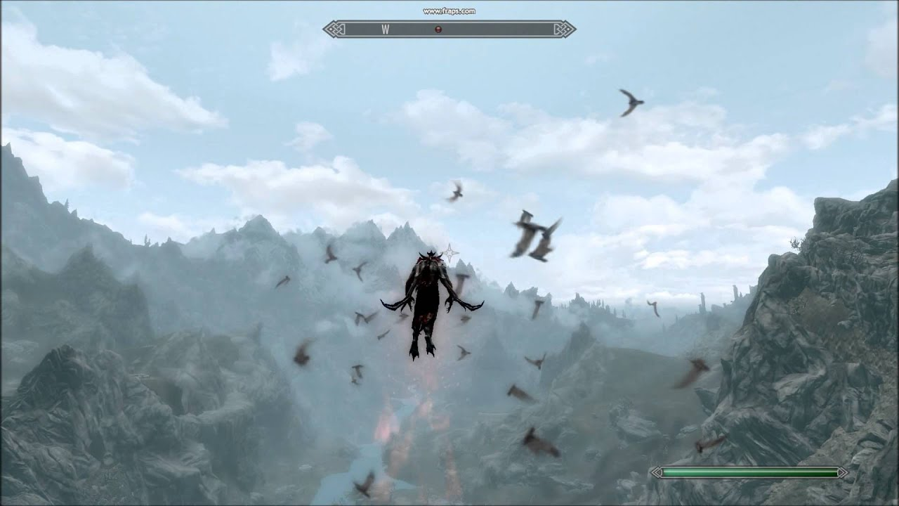 Skyrim DLC: Flying Over Skyrim As A Vampire lord