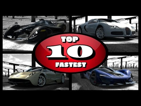 Top 10 Fastest Cars On Gran Turismo 6 2017