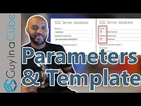 Parameters and Templates with Power BI Desktop
