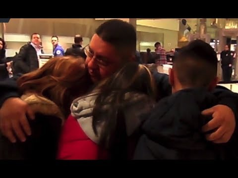 RAW: Family say emotional goodbye to father deported from US