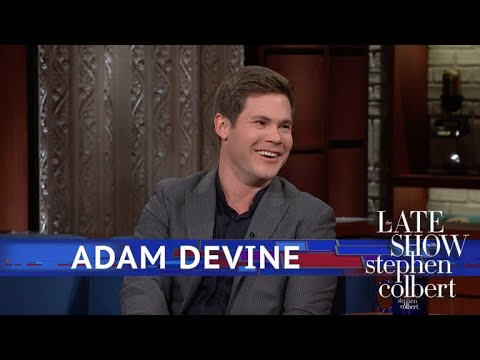 Stephen Colbert vs. Adam Devine On How He Almost Died Once
