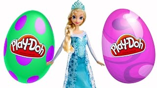 SURPRISE EGGS Episodes ★ Disney Frozen Barbie Play Doh Eggs 2015 Toy Videos