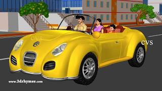 Wheels on the Car Go Round and Round | 3D Kids Songs & Nursery Rhymes for Children