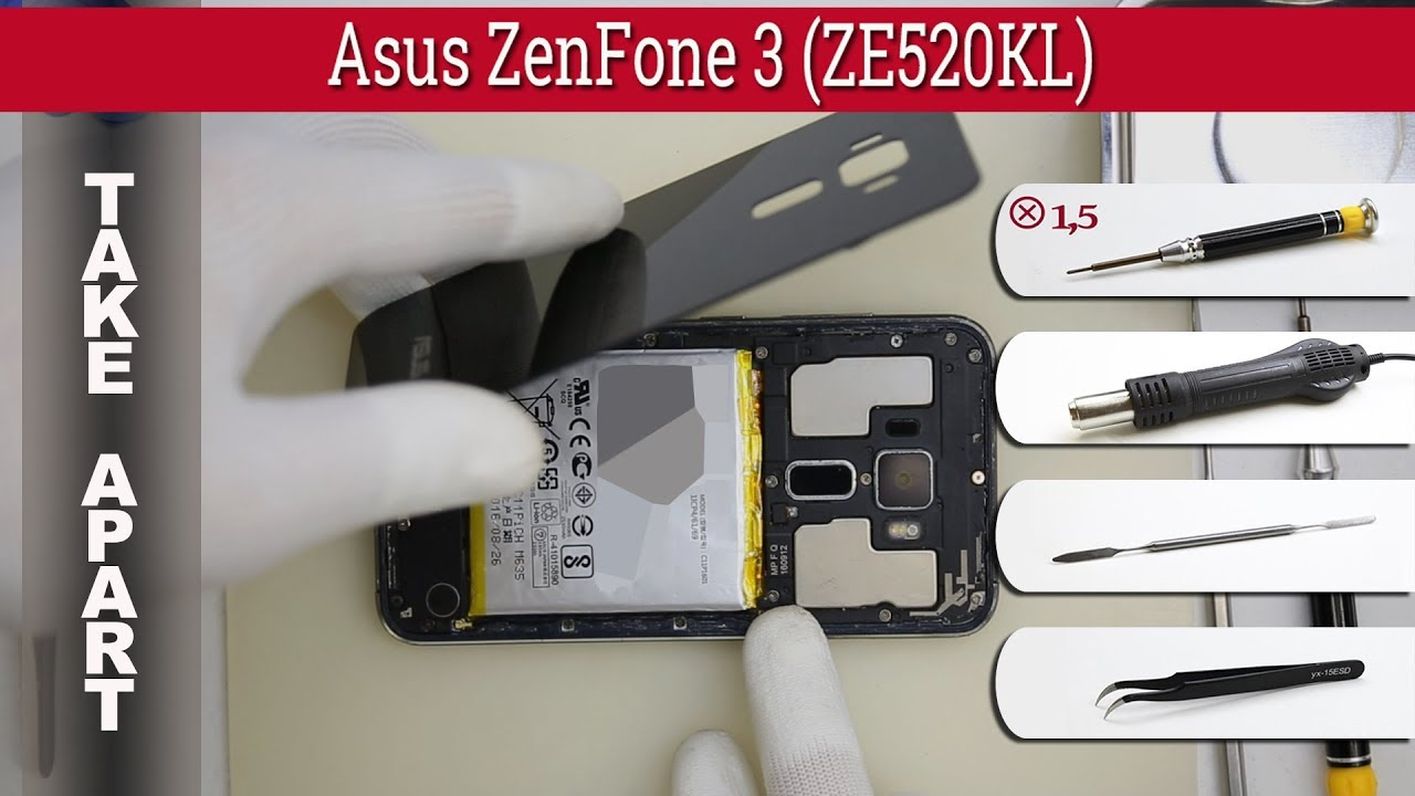 how to disassemble asus zenfone 3 ze520kl take apart. Black Bedroom Furniture Sets. Home Design Ideas