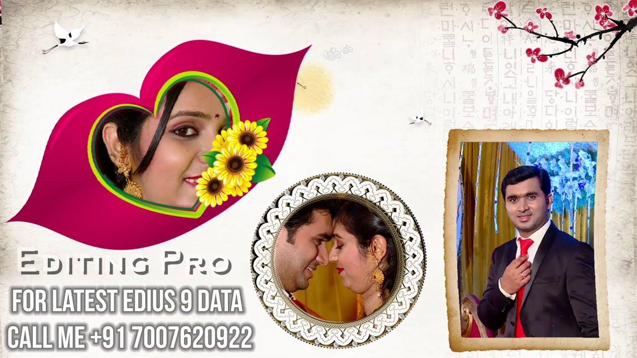 Edius 7/8/9 Wedding Song Project Data | Khali Khali Dil Ko | Video Mixing #1