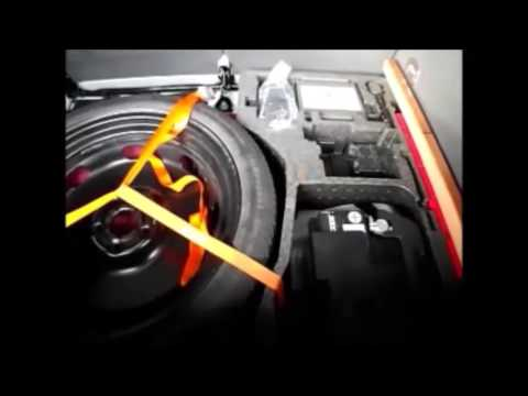 Audi TT mk 2 Coupe spacesaver wheel installation.