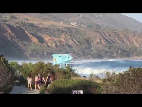 Surfing in North LA during solid South Swell July 4th weekend