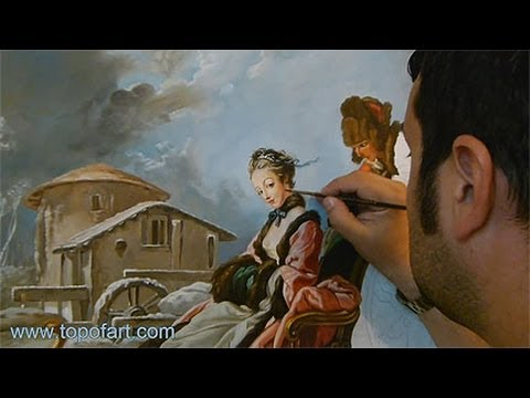 Art Reproduction (Boucher - The Four Seasons: Winter) Hand-Painted Step by Step