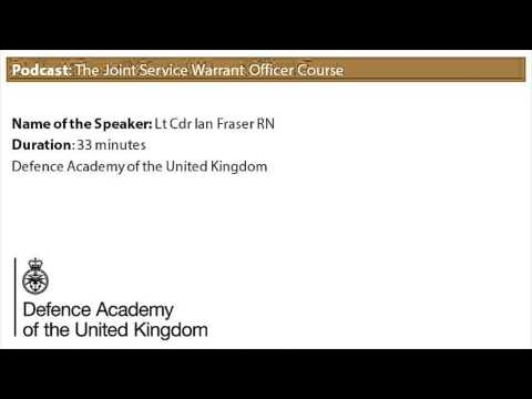 Podcast: The Joint Service Warrant Officer Course