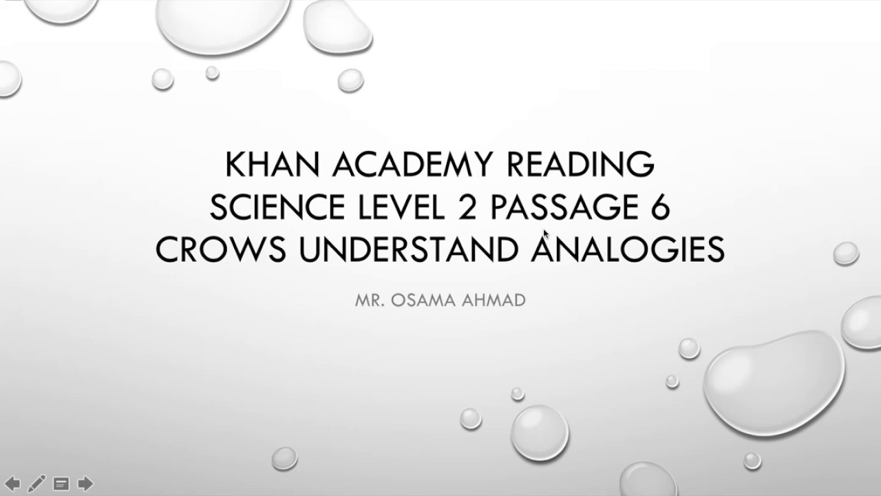 Science Level 2 Passage 6 - Khan Academy