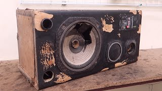 Restoration Ancient Cabinet Speakers | Reuse Antique Sounds