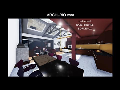 ARCHI-BIO - CREATION D'UN LOFT - RUE LA FONTAINE- BORDEAUX