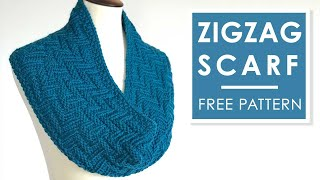 How To Knit A Scarf Easy Zigzag Pattern