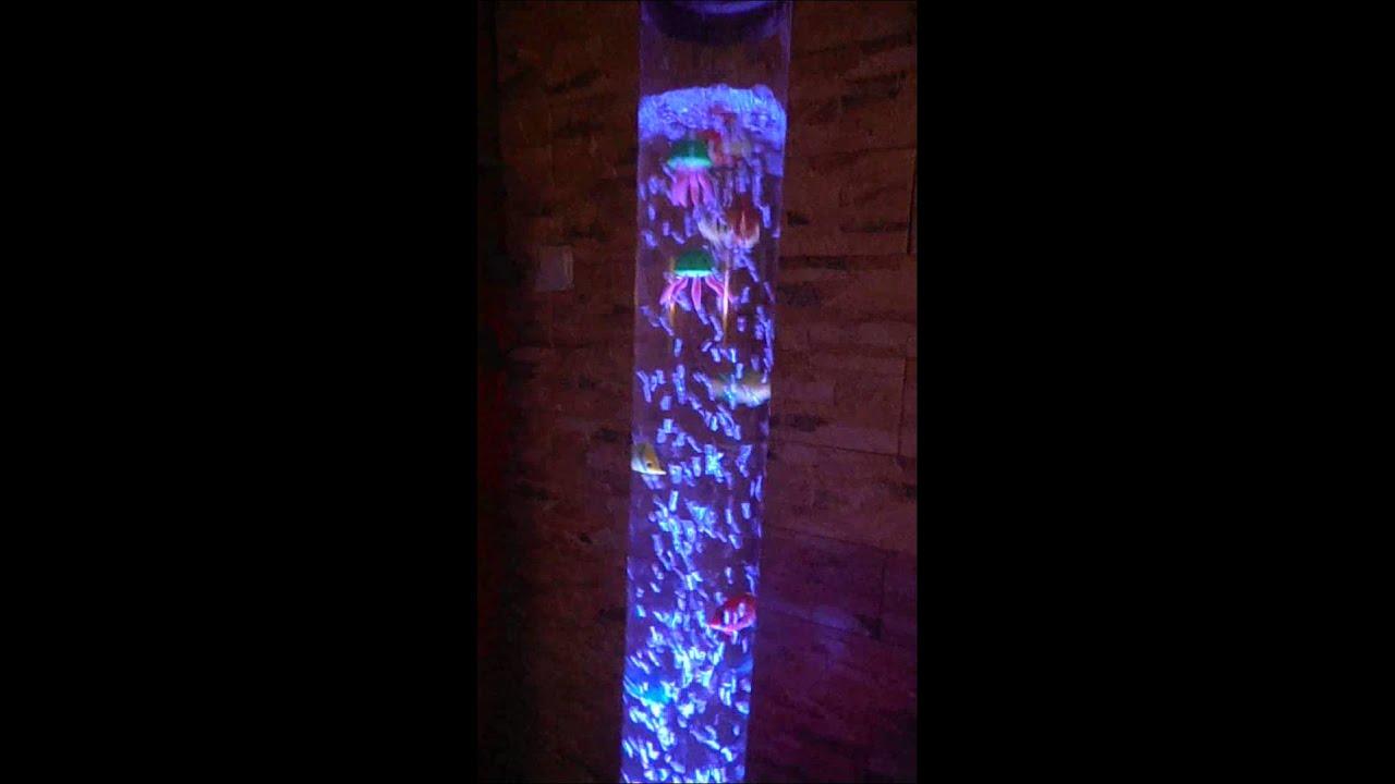 lampara peces y medusas  YouTube
