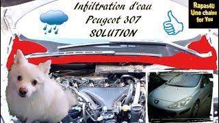 Infiltrations d'eau BAIE de PAREBRISE - Peugeot 307 - SOLUTION de SECOURS // Rapas4U