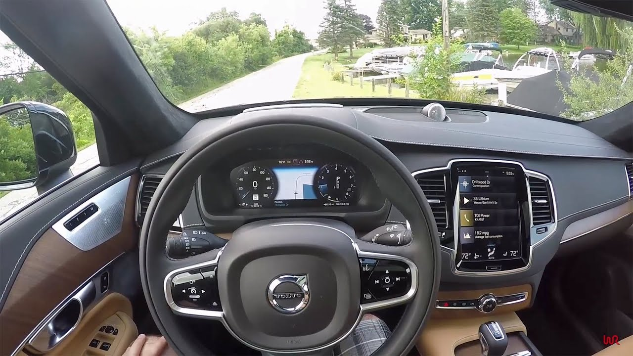 2018 volvo xc90 t6 awd inscription pov test drive review youtube. Black Bedroom Furniture Sets. Home Design Ideas