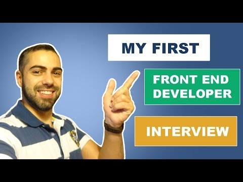 My first Front End Developer Interview