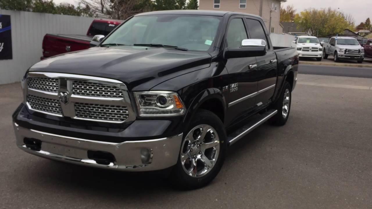 Dodge Ram Laramie Limited 2017 >> 2017 Black RAM 1500 Laramie - YouTube