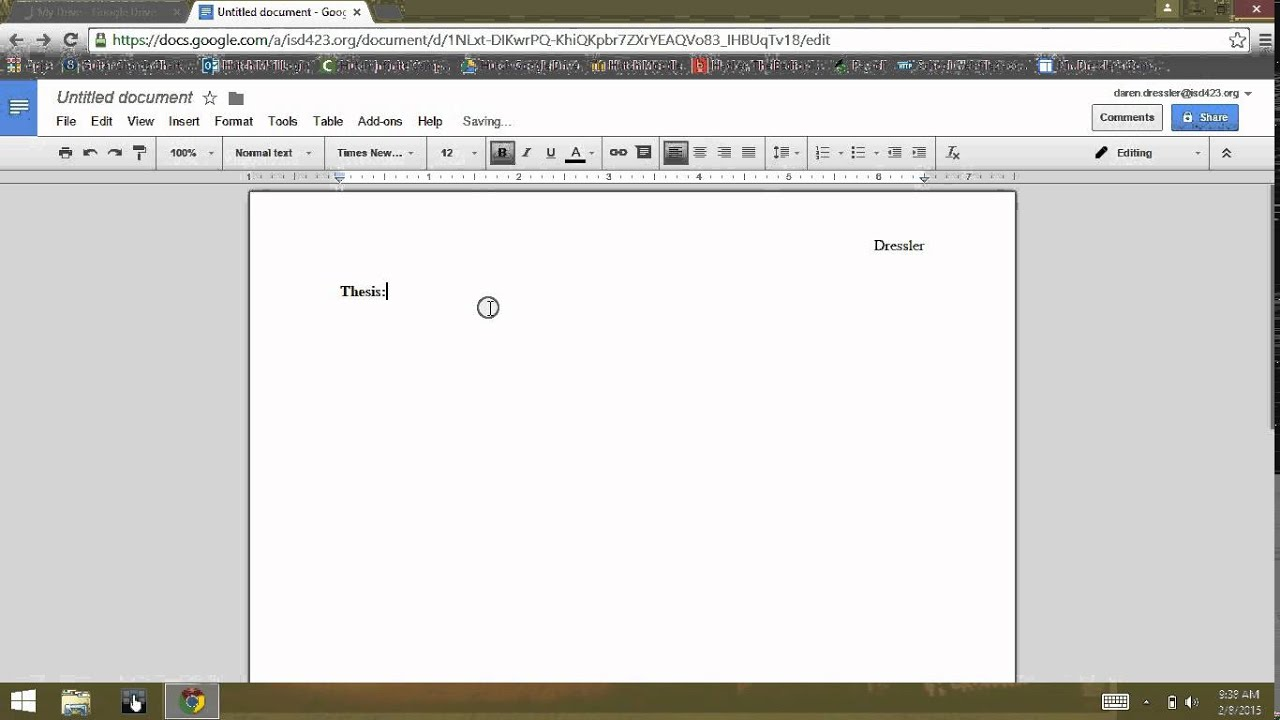 how to make an outline on google docs