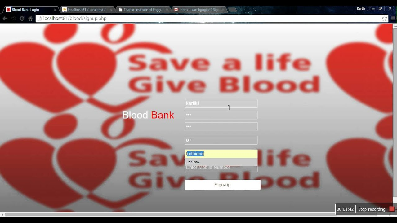 Online Blood Bank Management System