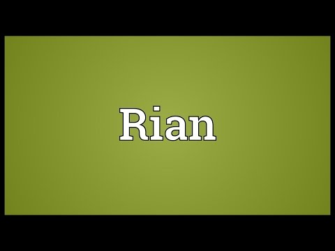 Rian Meaning