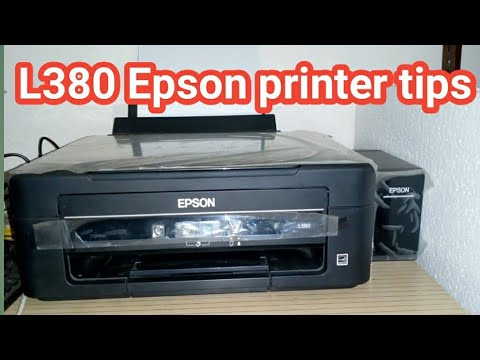 L380 Epson printer tips   Epson printer head cleaning   Epson inkjet printer print problem