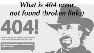 What is a 404 error not found