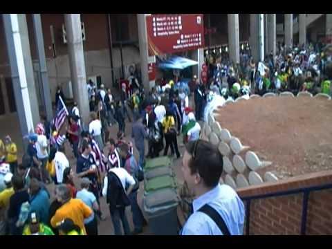 Walking into US Algeria game pt  II