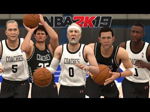 Team Of NBA Coaches In NBA 2K19!  Popovich, Brad Stevens, Steve Kerr and More!