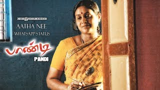 Aatha Nee - Whatsapp Status   Pandi Tamil Movie   Srikanth Deva   Raghava Lawrence   4