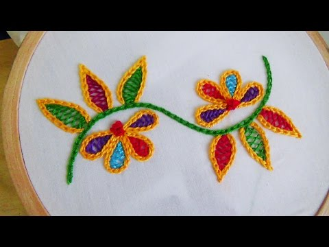 Hand Embroidery: Wine stitch