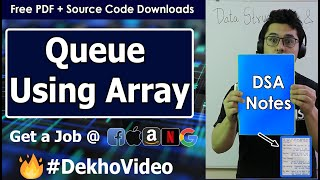 Array implementation of Queue and its Operations in Data Structure